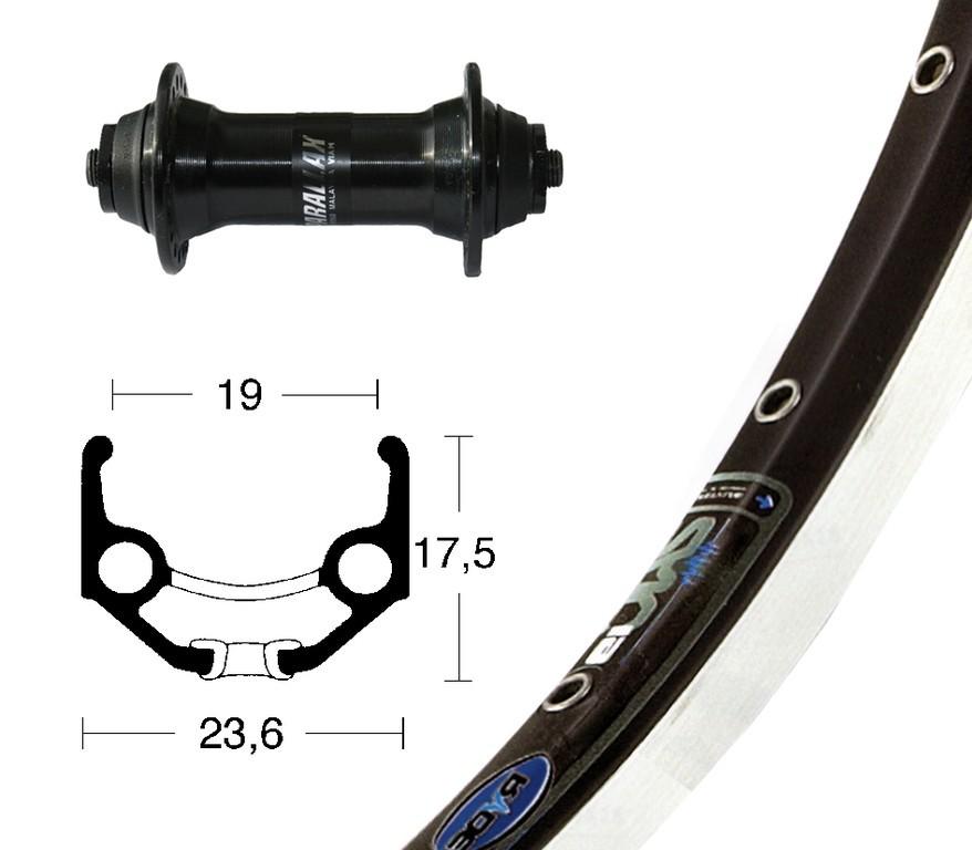 Ruota Anteriore QR 28x1.75 RM-60 Rigida Zac19 nero/nero/argento