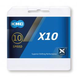 """Catena per cambio KMC X10 grigio 1/2"""" x 11/128"""", 114 maglie,5,88mm,10-v."""