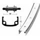 Ruota Posteriore 28x1 3/8 36F QR Mozzo Filetto Alluminio