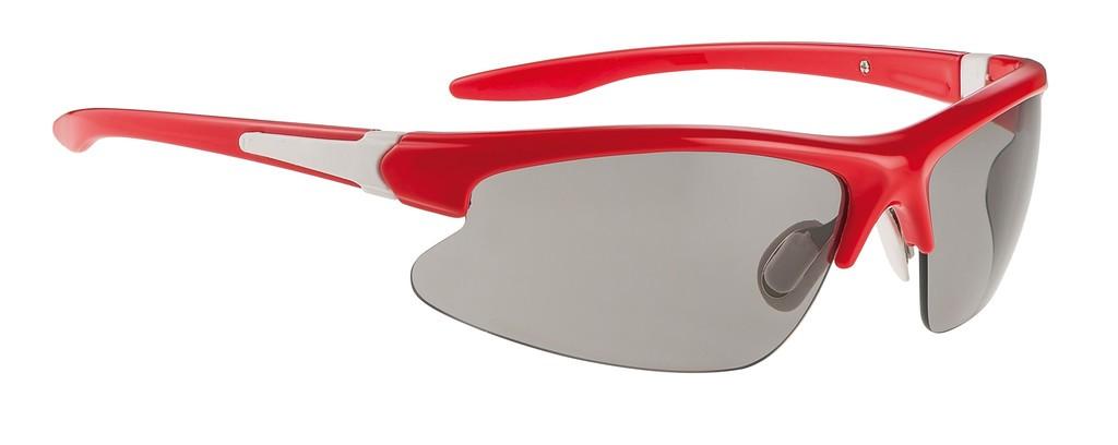 Alpina Tri-Dribs rosso/bianco, lenti Ceramic nere a specchio