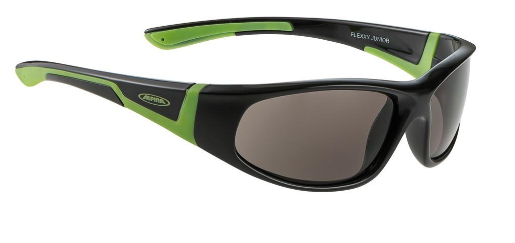 Alpina Flexxy junior nero/verde, lenti Ceramic nere