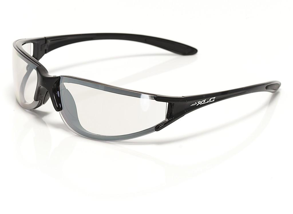 XLC Occhiali da Sole La Gomera nero lucido, lenti trasparenti