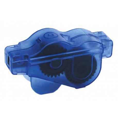 attrezzo per pulire la catena c.sist.a 6 spazzole,azzurro/trasp.