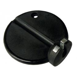 Tiraraggi tondo Nr. 2195 L, poliammide nera