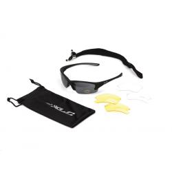 Occhiali da sole XLC 'Fidschi' SG-C08 Mont. nero opaco vetro fume