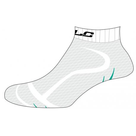 Calze bici corsa Footie XLC CS-S02 bianco/verde
