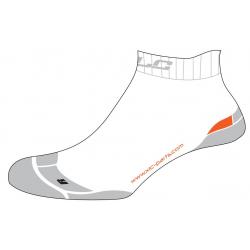 Calze funzionali XLC Footie CS-S03 bianco/grigio