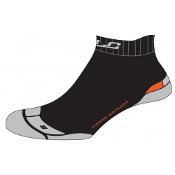 Calze funzionali XLC Footie CS-S03 nero/grigio