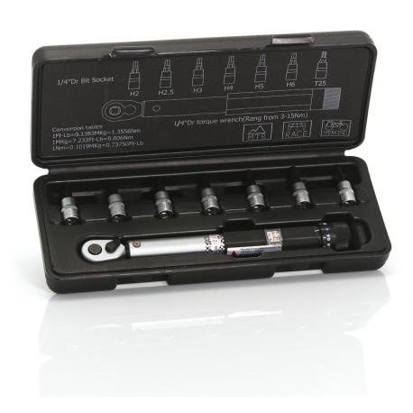 "XLC Chiave dinamometrica1/4"" TO-UN05 regolabile da 3 - 15 Nm"