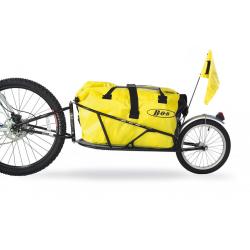 """Rimorchio per bici BOB Yak per 26"""" MTB TR0502 nero, incl. SSP e borsa BOB"""