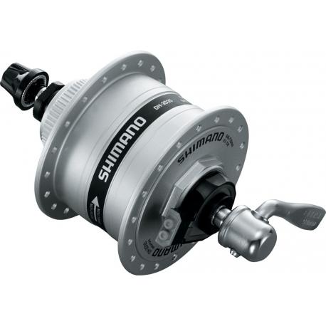 VR dinamo mozzo Shimano A-DH3D37 3W 100mm, 36 denti, argento, Centerlock,QR