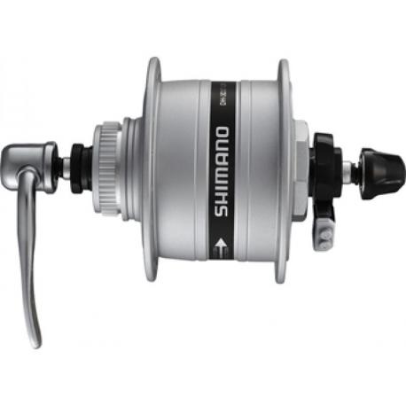 VR dinamo mozzo Shimano A-DH3D37 3W 100mm, 32 denti, argento, Centerlock, QR