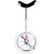 "Monociclo OnlyOne 16"" bianco Indoor cerchio d'allum.,copertone bianco"