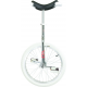 "Monociclo OnlyOne 20"" cromato Indoor cerchio d'allum.,copertone bianco"
