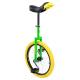 """Monociclo QU-AX 20"""" Luxus verde 1104 c. cerchio in allum. ruota, giallo"""