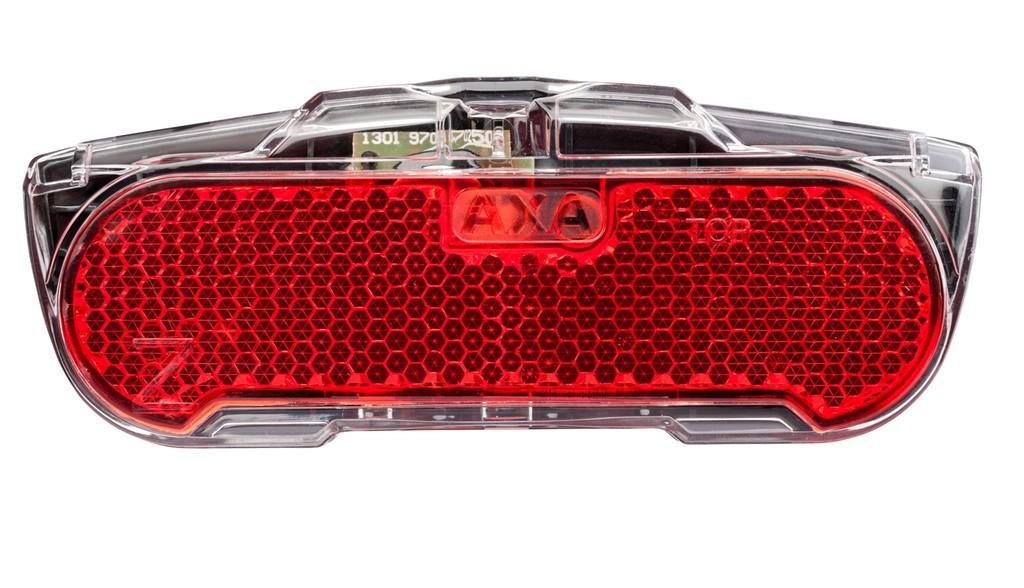 Fanale posteriore dinamo Axa Slim Steady, 80mm per portapacchi (nero/trasparente)
