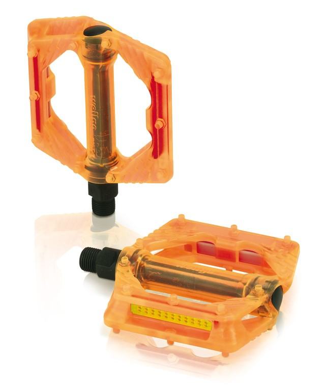 Coppia pedali XLC PD-M16 arancio trasparente