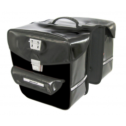 Borsa doppia Haberland idrorepellente nero 32x34x16 cm, 35 litri