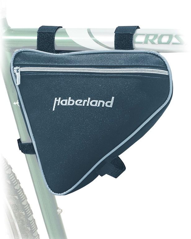 Borsa da telaio Haberland nera 24x23x5 cm