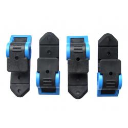 Klickfix gancio City-Twist nero/azzurro, set da 4 pezzi