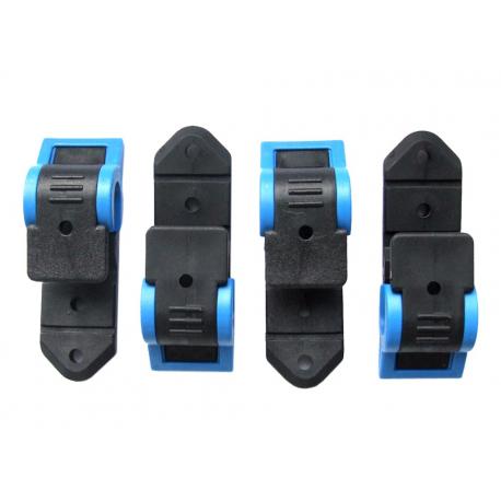 gancio City-Twist Klickfix nero/azzurro, sacchetto a 4 pezzi