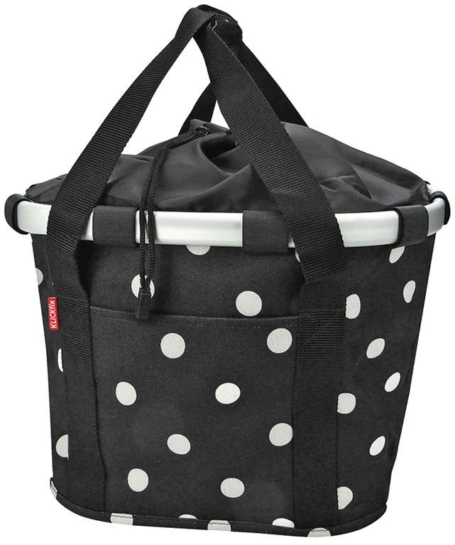Klickfix City Bikebasket black dots