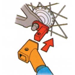 Attacco per montaggio verticale+orizzontale XLC Mono/Duo/CarryVan/DoggyVan