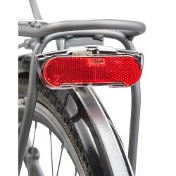 Fanale posteriore dinamo Axa Slim Steady, 50mm per portapacchi (nero/trasparente)