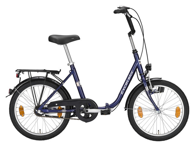 Bici Pieghevole In Alluminio.Excelsior Bici Pieghevole True Blue 1v Contropedale